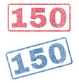 150 textile stamps vector image vector image