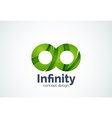 Abstract business company infinity logo template vector image