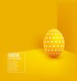 abstract easter yellow background vector image vector image