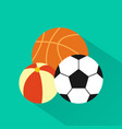 balls modern design flat icon with long shadow vector image