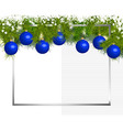 Banner of fir branches and Christmas balls vector image vector image