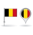 Belgian pin icon and map pointer flag vector image vector image