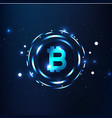 bitcoins digital currency logo sigh image vector image vector image