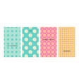 bright colorful seamless patterns for bastyle vector image vector image