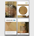 business templates for brochure magazine flyer vector image vector image