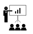 business trainer vector image
