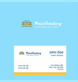 car logo design with business card template vector image