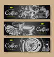 cartoon hand drawn doodles coffee corporate vector image vector image