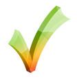 checkmark tick 3d icon vector image