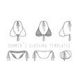 Clothing set Swimwear vector image vector image