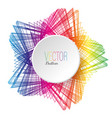 colorful wireframe with a white button vector image vector image