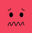 confused funny emotion emoji sad face vector image