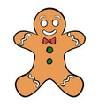 cookie man icon cartoon vector image vector image