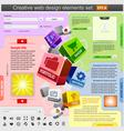 creative web design vector image