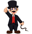 cute Ringmaster cartoon thumb up vector image