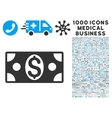 Dollar Banknote Icon with 1000 Medical Business vector image vector image