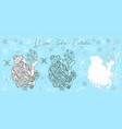 doodle set with pisces zodiac symbol girl kissing vector image vector image