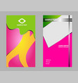 four business card set elements for design vector image vector image