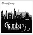 gamburg - city in germany detailed architecture vector image vector image