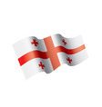 georgia flag on a white vector image