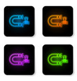 glowing neon customer attracting icon isolated on vector image vector image