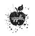 grunge apple2 vector image vector image