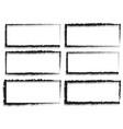 grungy rectangular frame set set of 6 version vector image vector image