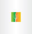 half spring and half autumn tree icon vector image vector image