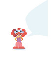 happy clown character vector image vector image