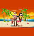 happy family photo on vacation vector image