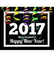 happy new year 2017 on a background confetti vector image
