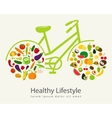 Healthy lifestyle concept in modern flat design vector image