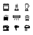 Home appliance icons vector image vector image