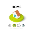 Home icon in different style vector image vector image