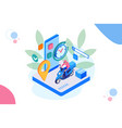 isometric fast and free delivery by man ride vector image vector image