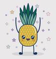 kawaii pineapple icon vector image vector image