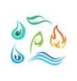 logo elements set of nature vector image