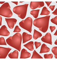 love 3d hearts seamless pattern eps10 vector image