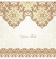 Luxury gold border on seamless background vector image vector image