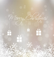 Merry Christmas with snowflake and gift box card vector image vector image