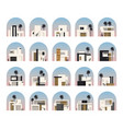 minimalist house flat set vector image vector image