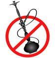 No smoking hookah silhouette vector image vector image