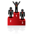 pedestal men champion vector image