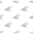 post pigeonmail and postman pattern icon in vector image vector image