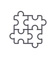 Puzzlejigsaw line icon sign