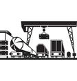 Railway cargo station