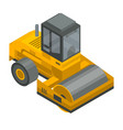 road roller vehicle icon isometric style vector image vector image