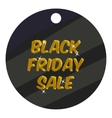 Round tag black friday sale icon cartoon style vector image vector image