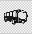 school bus icon in transparent style autobus on vector image