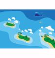 Sea scape vector image vector image